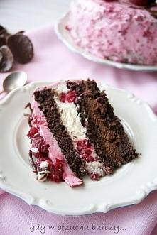 Ciasto malinowe podwójnie c...