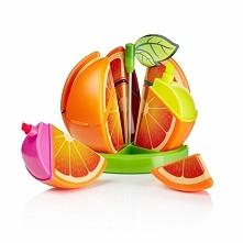 Owocowy zakreślacz w kształcie pomarańczy. 6 różnych kolorów w komplecie.  ga...