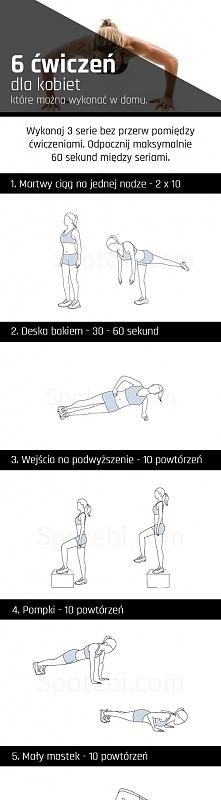 6 najlepszych ćwiczeń dla kobiet, które można wykonać w domu.