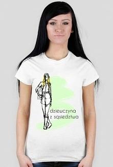 Koszulka z napisem: dziewcz...