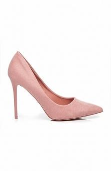 Szpilki 1030-20P różowe Rewelacyjne szpilki, wykonane z zamszu ekologicznego, rewelacyjnie wyglądają na nodze