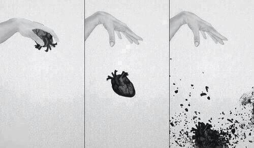 serce zbite niczym szklanka