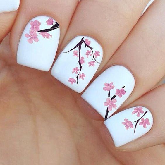Przepiękne! Króciutkie z pięknym zdobienie kwitnącej wiśni - bajeczne!