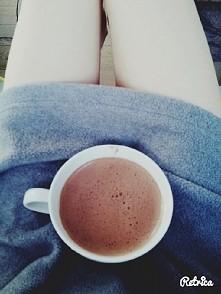 Zdrowa gorąca czekolada z d...