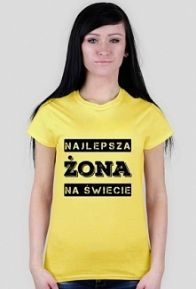 Koszulka z napisem Najlepsza Żona na Świecie