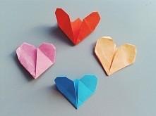 Bardzo proste serduszka origami których można użyć jako walentynki, ponieważ ...