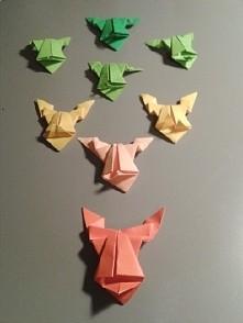 Rodzina żabek origami