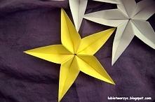 Gwiazdka kusudama na choinkę