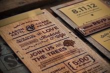 Zaproszenia na drewnie