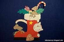But Świętego Mikołaja - dekoracje przedszkolne