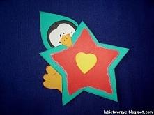 Pingwin i gwiazda - dekoracja przedszkolna