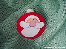Papierowa bombka - Święty Mikołaj