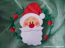 Święty Mikołaj - mini wieniec