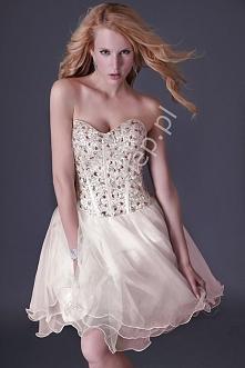 Sukienka na wesele z kryształkowo cekinowym gorsetem | sukienki na wesele