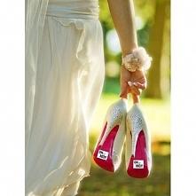 Ślubna naklejka na buty:) On jest mój. Dostępna w GodsToys