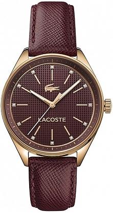 bordowy zegarek damski z piękną fakturką na pasku i tarczy. Wysmakowany desig...