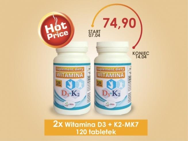 2x Witamina D3 + K2-MK7 - ZESTAW