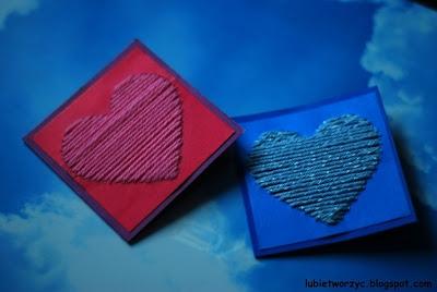 Urocza karteczka z motywem serca - prezent z okazji Dnia Mamy