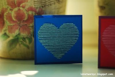Śliczna karteczka z motywem serca - fajny pomysł na prezent walentynkowy