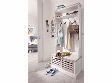 Prowansalska biała garderoba z kolekcji Louise wykonana w stylu shabby chic. Cała kolekcja oraz wiele więcej mebli dostępne na seart.pl