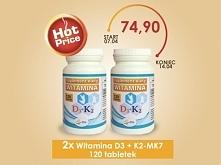 2x Witamina D3 + K2-MK7 - Z...