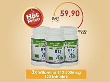 Witamina B12, zwana inaczej kobalaminą lub czerwoną witaminą. Witamina B12 odpowiedzialna jest za prawidłowe funkcjonowanie układu nerwowego. Jest niezbędna do prawidłowego funk...