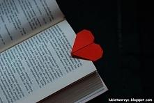 Zakładka do książki w kształcie serca origami