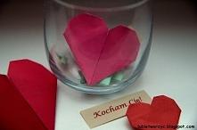 Serce origami z kieszkonką