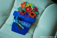 Kartka w kształcie doniczki - idealny prezent z okazji Dnia Mamy