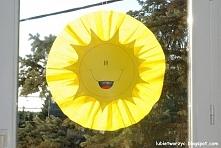 Słońce - dekoracja okienna w przedszkolu