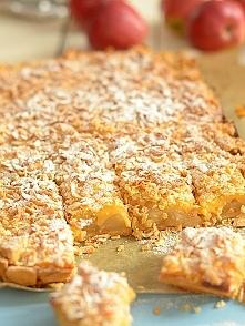 Szarlotka na niedzielę - z prażonymi jabłkami i budyniem waniliowym - ciasto ...