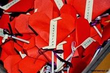 Serce origami z niespodzian...