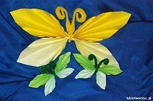 Wiosenny, harmonijkowy motylek