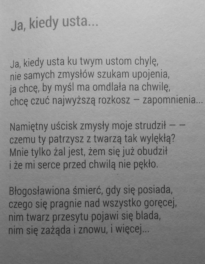 Kazimierz Przerwa Tetmajer Mój Ukochany Wiersz Na