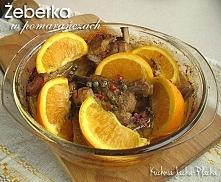 Żeberka w pomarańczach