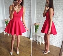 <3 <3 <3 Stylowa malinowa sukienka z dłuższym tyłem, na tiulu Illumi...