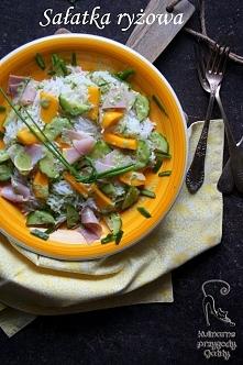 Sałatka z ryżem i mango