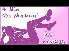 Ćwiczenie mięśni brzucha przez 4 minut - dla kobiet! Polecam! Krótkie i przyjemne ćwiczenia. Od czegoś trzeba zacząć, Kobietki! ♥