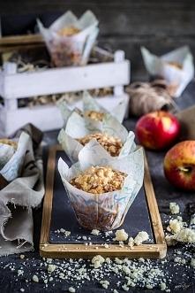 Jabłkowe muffiny z kruszonką