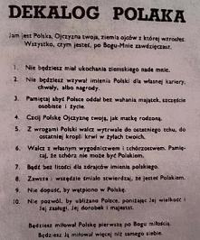 dekalog Polaka autorstwa Zofii Kossak-Szczuckiej