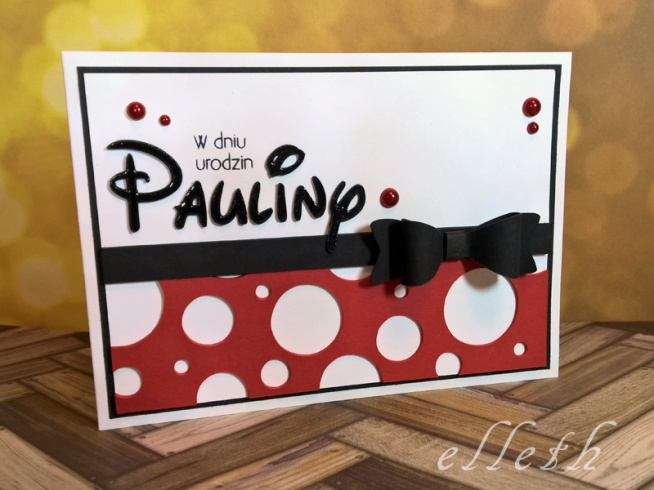 minnie mouse card - how to do it with silhouette portrait