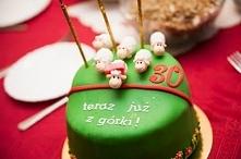 Owieczki - tort urodzinowy