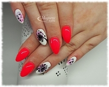 SPN Wild Pink & blur effect z dmuchawcem   Nails by Monika, Studio Magnet...