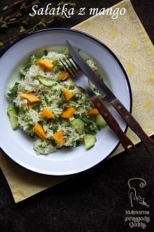 Sałatka z mango z zielonym ...