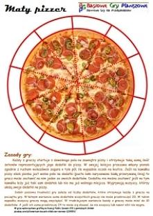Mały Pizzer to gra dla 2-5 ...
