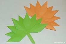 Papierowy jesienny liść