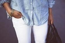 białe spodnie i koszula? BUENO ^
