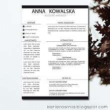 Darmowy szablon CV edytowalny w Wordzie!