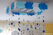 Chmury i deszcz - jesienne dekoracje przedszkolne