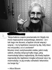 mądre słowa babci!